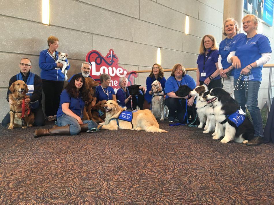 Bradley International Airport Celebrates National Therapy Animal Day